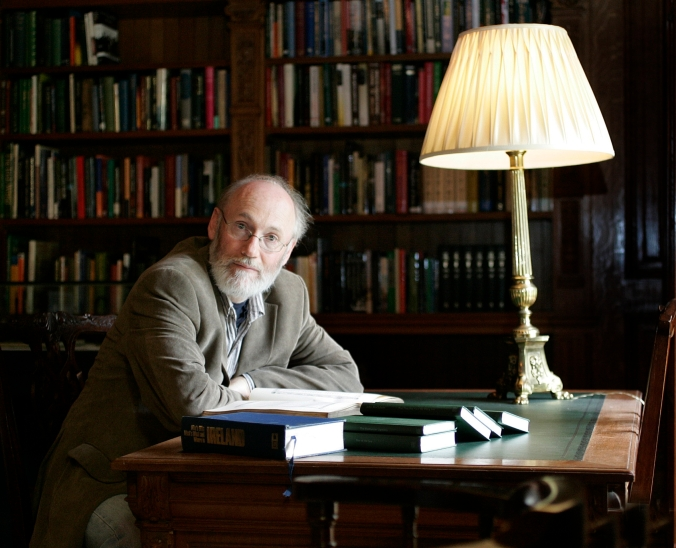 Writer  in Residence, Dermot Bolger    in the Library at Farmleigh in the Phoenix Park.Pix Ronan Lang/Feature File