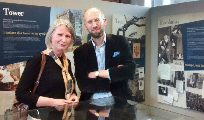Senator Susan O'Keeffe with curator Adrian Paterson