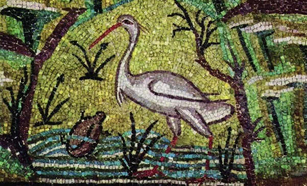 Mosaic from Ravenna, one of many that inspired W.B. Yeats
