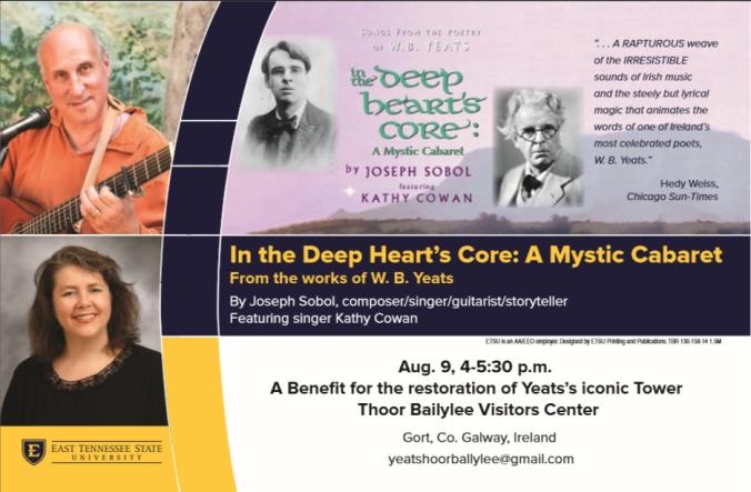 Yeats Deep Heart's Core cabaret