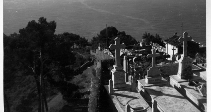 The cemetary in Roquebrune, France, where Yeats was buried after his death in 1939