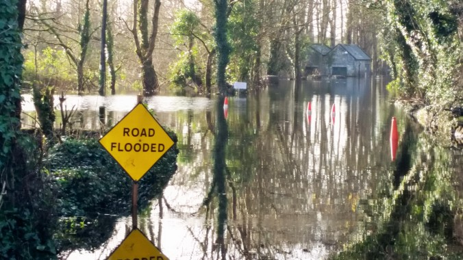 Flooding before Christmas near Thoor Ballylee