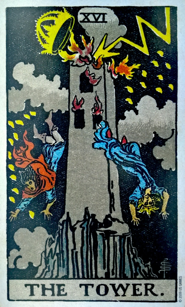 Pamela Colman Smith, The Tower, Tarot Card Park 1907